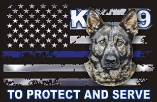 thin blue line german shepherd quot to protect and serve quot decal