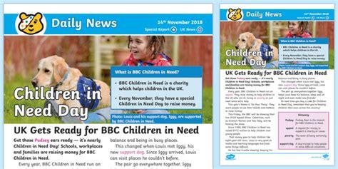 * New * Lks2 Bbc Children In Need Daily News Story  Children In