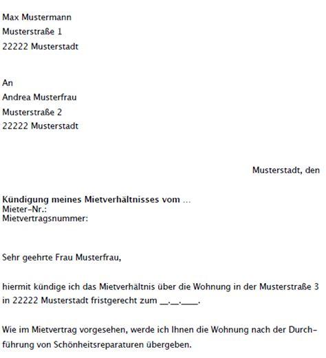 Kündigung Eines Mietvertrages Durch Den Vermieter by Vertrag Vorlage Digitaldrucke De Anspruchsschreiben Zur