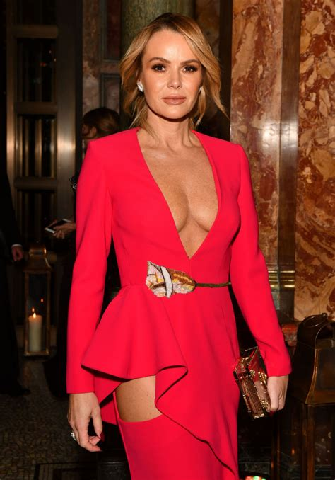 Amanda Holden Sexy Plunging Cleavage At Global Gift Gala In London Celeblr
