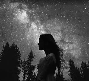 alone, black and white, cool, dark, girl, gray, grunge ...