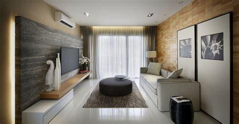 marble tiles living room modern townhouse  kuala