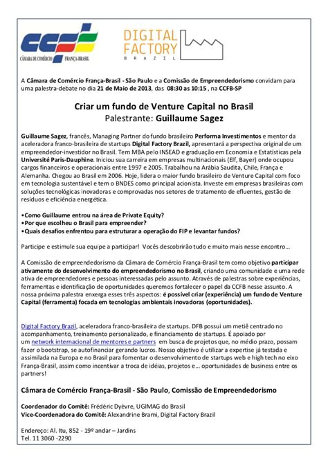 Venture Capital Resume by Performa Of Resume Venture Capital No Brasil