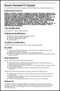 Beauty Therapist CV