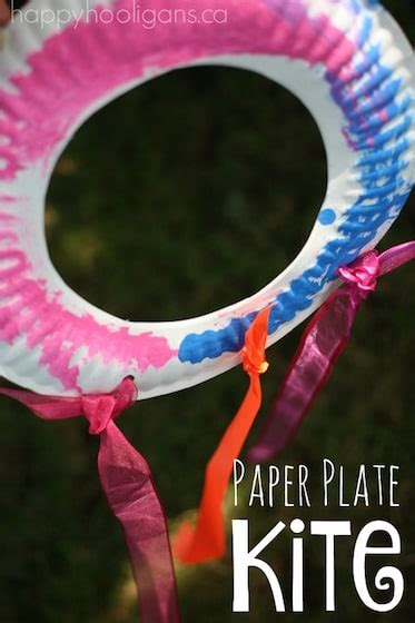 paper plate kite  toddlers  preschoolers happy