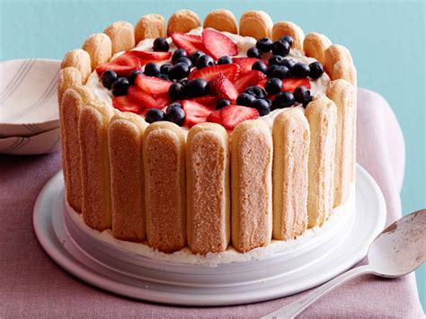 Lady finger recipes easy (page 1) simple ladyfingers recipe lady finger fruit dessert these pictures of this page are about:lady finger recipes easy Berries and Cream Ladyfinger Icebox Cake Recipe   Cooking Channel