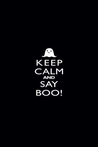 Wallpaper That Says Boo by Keep Calm And Say Boo Mobile Wallpaper Mobile