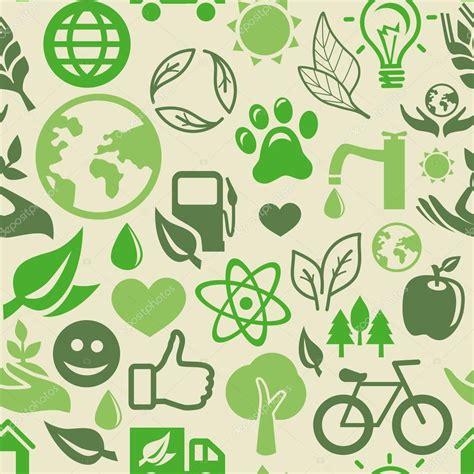 vert motif sans couture avec les signes de lecologie image vectorielle venimo