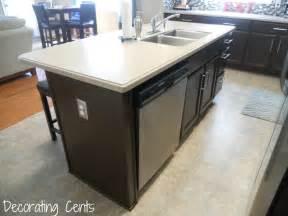 kitchen island with dishwasher decorating cents where 39 s the dishwasher