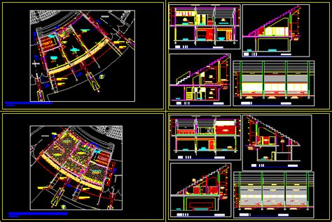 coliseum type  dwg plan  autocad designs cad