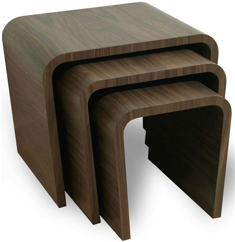 Tom Schneider Wave nest of tables   Side tables