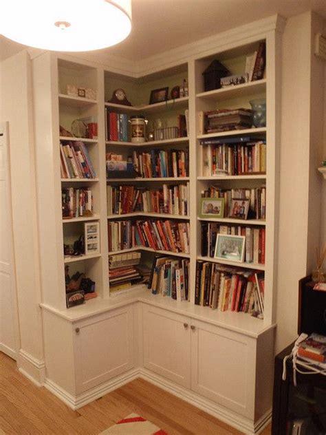 White Corner Bookshelf  Corner Bookshelf A Tricky Way