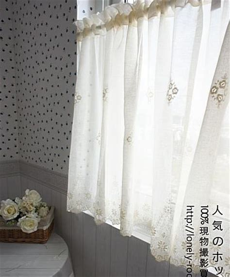country embroidered lace cotton linen cafe