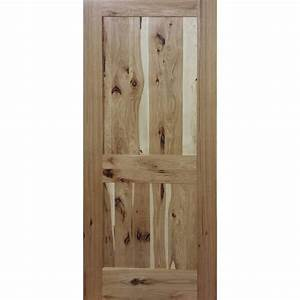 Builder39s choice 32 in x 80 in 2 panel shaker solid core for Hickory interior doors