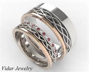 matching wedding bands stunning sapphire alternately matching wedding band set vidar jewelry unique custom