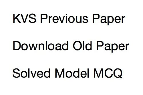 download kvs ldc previous question paper