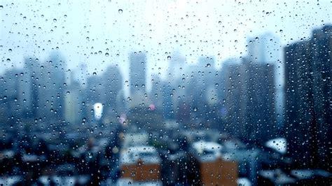 Skyline Background City Skyline Background On A Rainy Weather Day Sad