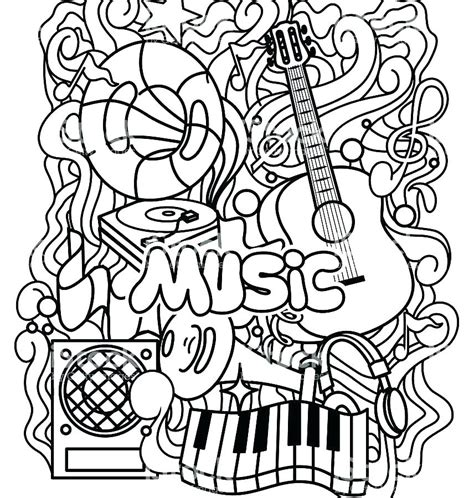 printable coloring sheets musically coloring pages