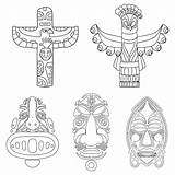 Totem Pole Coloring Pages Animal Printable Templates Template Animals Printablee Bear sketch template
