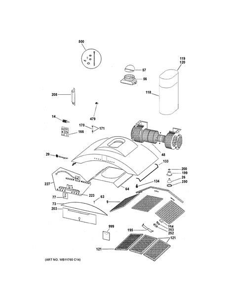 assembly view  range hood zvsbss