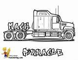 Coloring Truck Pages Mack Trucks Printable Rig Semi Wheeler Yescoloring Boys Kenworth Pinnacle Sheets Sheet Clip Cool Colouring Trailer Monster sketch template