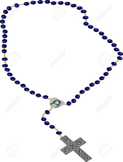 Rosary Clipart A Cross And Rosary Royalty Free Clipart Collection 11