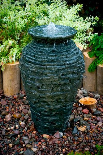 Aquascape Fountains by Small Stacked Slate Urn Kit Aquascape Inc