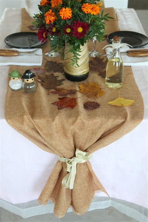 Jute Table Runner Perfect For Thanksgiving Table Settings
