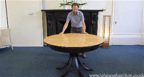 johnson furniture expanding table expanding circular dining table