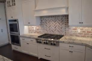 brick backsplashes for kitchens brick kitchen backsplash transitional kitchen