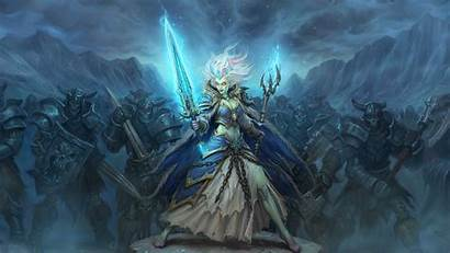 Jaina Knight Death Proudmoore Warcraft Hearthstone Knights