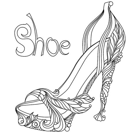 shoe coloring page shoes coloring pages  adults