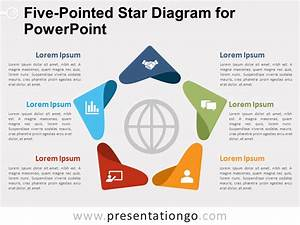 Five-pointed Star Diagram For Powerpoint