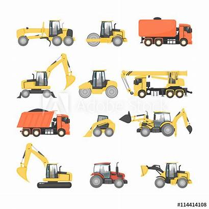 Truck Flat Road Excavator Construction Heavy Machinery