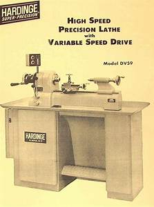 Hardinge Dv59 Precision Metal Lathe Catalog Dv