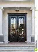 Grey Front Doors For Sale by Closed Glossy Black And Glass Front Doors Of An Upscale Home Stock Photos I