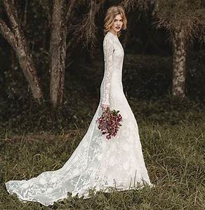wedding dress lace sleeves fishtail wwwimgkidcom the With long sleeve lace top wedding dress