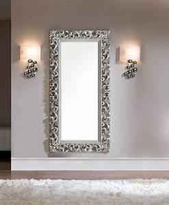 Miroir Rectangulaire Mural : miroir mural en gris ou dor laqu design dawn ~ Teatrodelosmanantiales.com Idées de Décoration