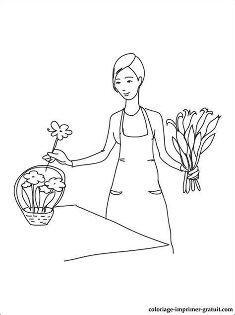 dessin fleuriste  colorier coloriage  imprimer gratuit