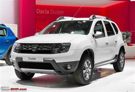 renault duster 2014 white 2014 dacia duster facelift revealed team bhp
