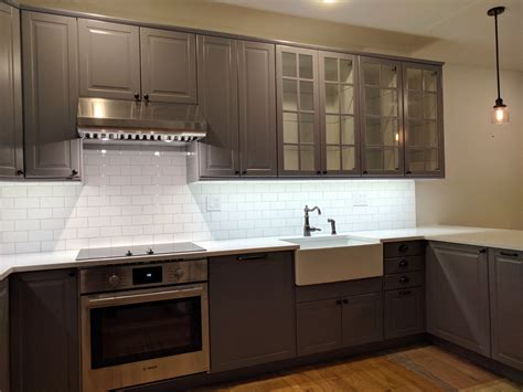 ikea kitchen faucet reviews hoboken ikea kitchen makeover in bodbyn gray basic builders