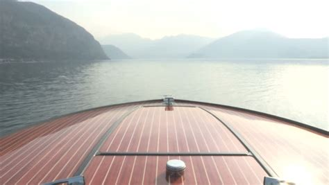 Bow Clip Boat by Wooden Bow Of Vintage Luxury Boat 動画素材 5084744