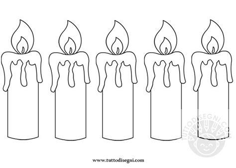 disegni di candele corona santa lucia candele da ritagliare tuttodisegni