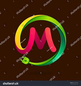 M Letter Wire Plug Icon Vector Stock Vector 334847084