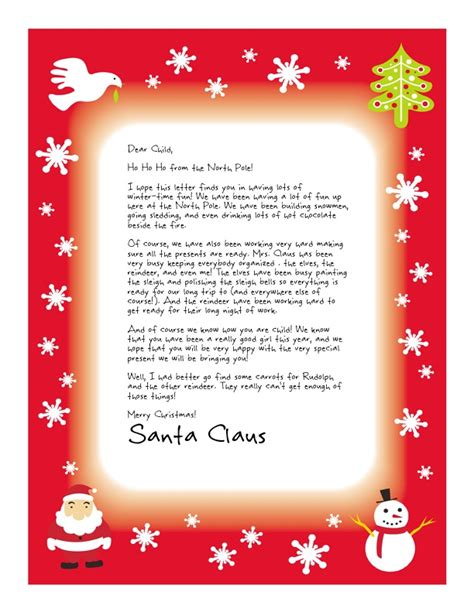 letter from santa text letter of recommendation letter from secret santa letter of recommendation 69035