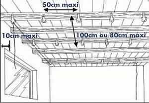 Faux Plafond Placo Sur Rail : fourrure faux plafond maison travaux ~ Melissatoandfro.com Idées de Décoration