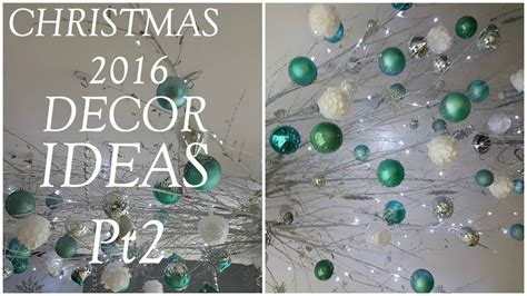 christmas decor ideas ceiling twigs  ornaments