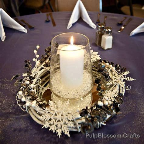 simple winter centerpieces 10 winter wedding centerpieces snowflake theme 70 00 via etsy i love weddings pinterest