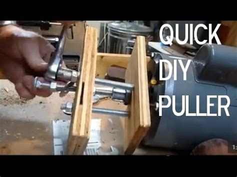 diy puller remove  gear  pulley  motor shaft   minutes youtube