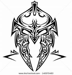 Tribal vector knight helmet. by Tomic-art, via ...